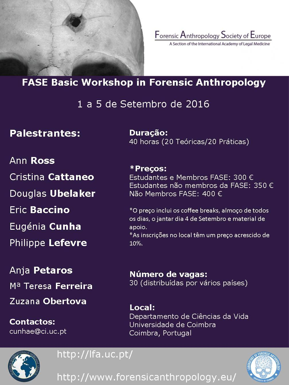 FASE Basic Workshop in Forensic Anthropology