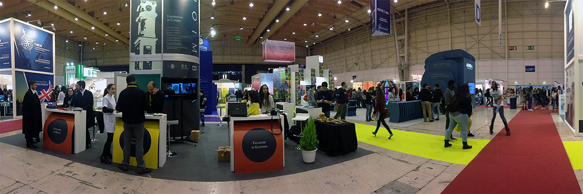 University of Coimbra stand at Futurália 2016